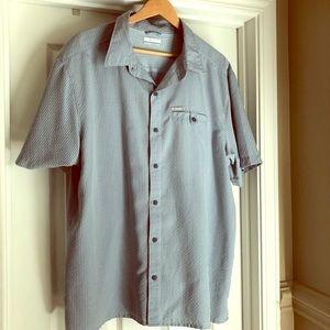 Columbia Victory Butte Blue Plaid Buttondown Shirt